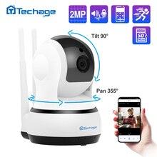 Techage caméra de Surveillance dôme intérieure IP Wifi 2MP/1080P, dispositif de sécurité sans fil, babyphone vidéo, avec Audio bidirectionnel
