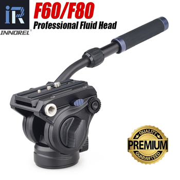 INNOREL F60/F80 Video Fluid Hydraulic Panoramic Head Q.R.Plate For Mount Professional DSLR Cameras/Camcorders/Telescope Tripod f60 f80 video fluid head panoramic hydraulic dslr camera tripod head for monopod slider adjustable handle manfrotto q r plate