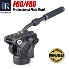 Innorel F60/F80 ビデオ流体油圧パノラマヘッドq.r。プレートマウントプロフェッショナルデジタル一眼レフカメラ/ビデオカメラ/望遠鏡三脚