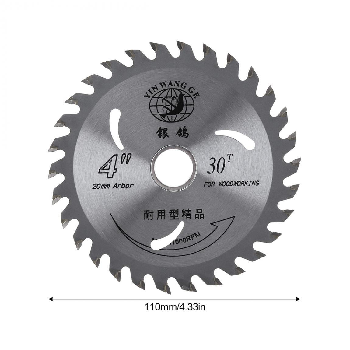Woodworking Saw Blade 110mm  Alloy Steel Circular Saw Blade Wood Disc Cutting Tool Aperture 20mm For Rotating Woodworking Tools