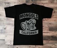 Vintage califórnia inferior rocker camisa branco preto mongóis mc impressão