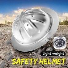 Capacete de segurança de alumínio de grande resistência de pouco peso da borda completa do capacete para a construção da mina da metalurgia ferroviária da construção naval