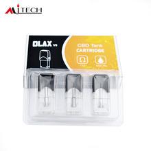 Wysokiej jakości 3 sztuk partia Vape Pod kaseta dla JUUL JC01 JBOX parownik baterii MJTECH OLAX V3 1 4ohm 0 5ml 0 7ml wymiana Pod tanie tanio CN (pochodzenie) for Juul Jbox Pod Vape Z tworzywa sztucznego Nie-wymienne MJTECH OLAX V3 Pod 3pcs in one pack 0 7ohm 0 5ohm