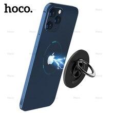 Base magnetica rimovibile Hoco per iPhone 12 Pro Max piastra di Base in metallo con magnete forte per iPhone 12mini con supporto per anello con impugnatura