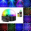 Disco Licht Bluetooth Stage Light Disco Bal Lamp 9 Kleur Batterij Draagbare Muziekspeler Geluid Controle Laser Projector Xmas