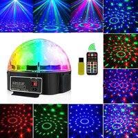 Disko ışık Bluetooth sahne ışığı disko top lamba 9 renk pil gücü taşınabilir müzik çalar ses kontrolü lazer projektör noel