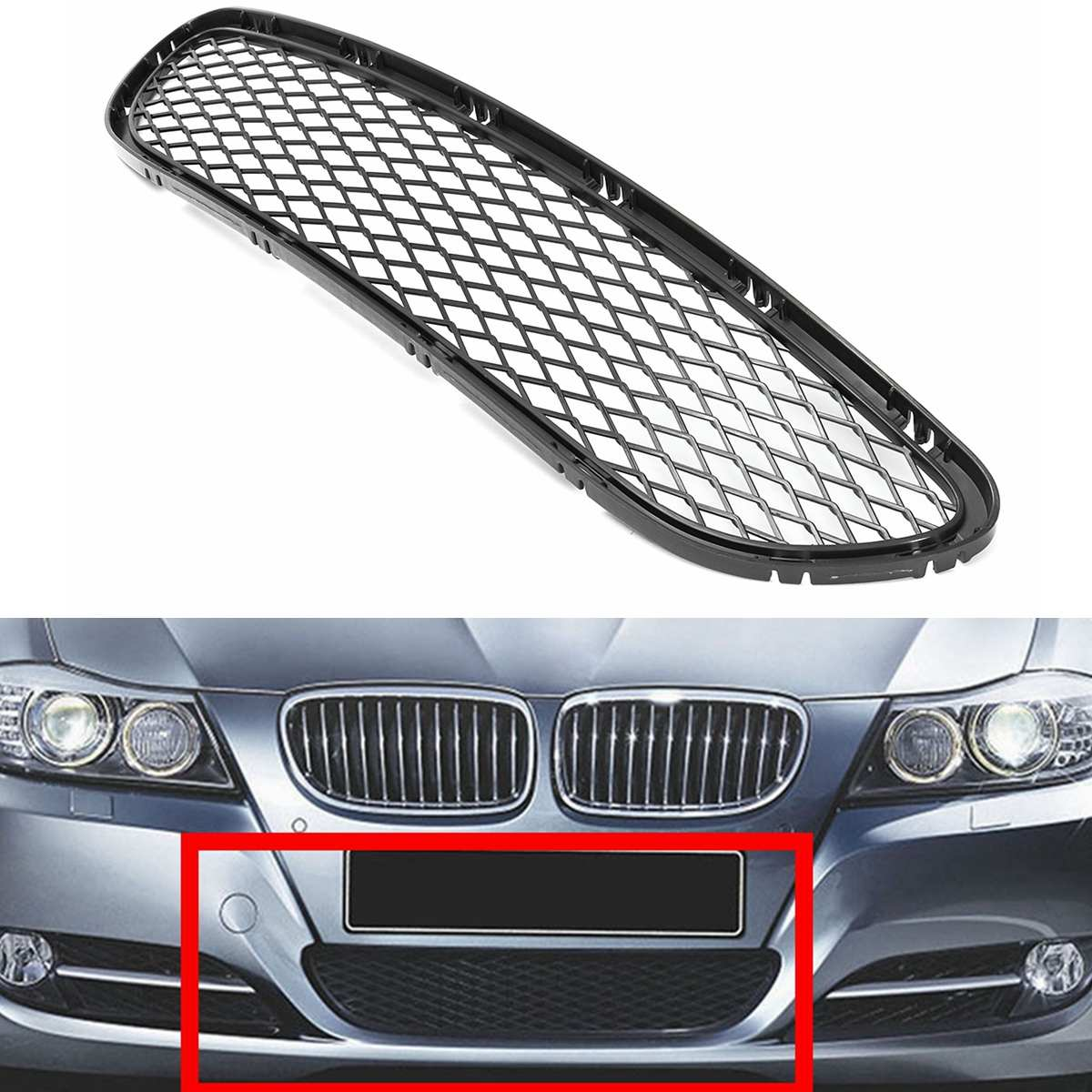 Front Bumper Lower Grill Fits BMW 3-Series E90 91 2009-2010