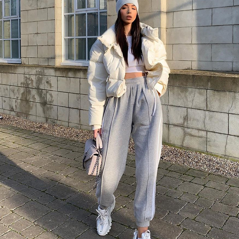 Harem Pants Women Streetwear Fashion Women Clothes Casual High Waist Trousers Women Sweatpants Women Stripe Pants