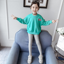 Get more info on the Girls Clothing Sets Long Sleeve Letter Pullover Sweatshirt Tops+Pants Fashion Clothes Big Girls Children 2019 Autumn Sportwear 4