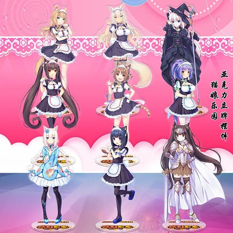 Anime NEKOPARA Maple Chocola Vanilla Azuki Coconut Cosplay Stand Figure Acrylic Desk Model Plate Decor Xmas Gifts