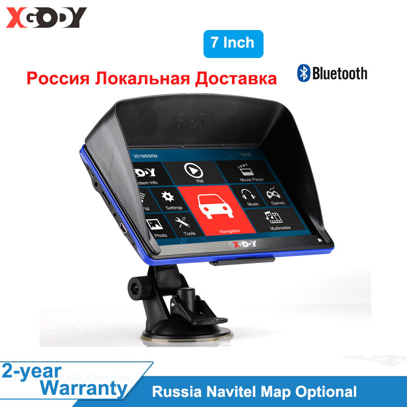 XGODY 5'' Car Truck Navigation 256M/ 128M+8GB Capacitive Touch Screen GPS Navigation Auto Russia Navitel Map Free Map