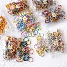50/100 sztuk/worek nowe dziewczyny śliczne kolory miękkie elastyczne gumki do włosów dla dzieci dzieci piękne Scrunchies opaski gumowe dziecięce akcesoria do włosów