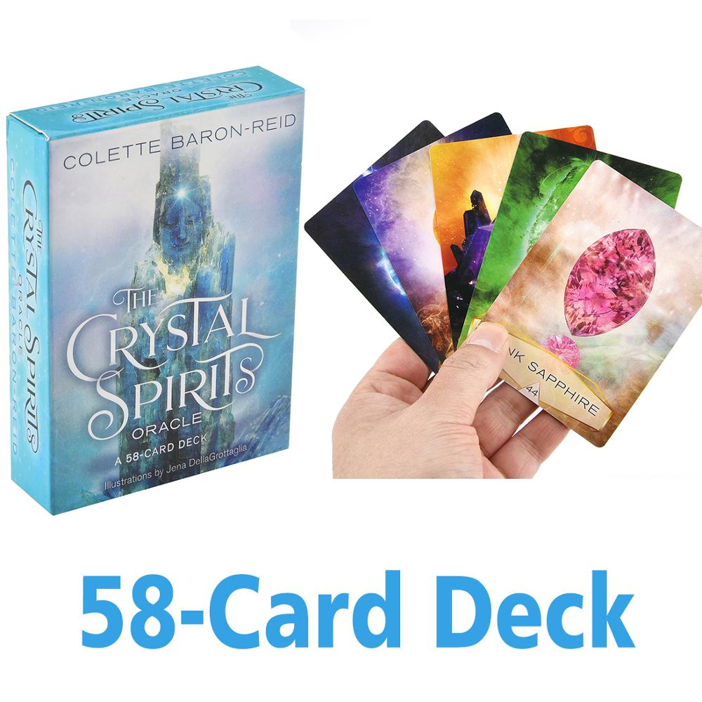 Crystal Spirits Oracles A 58-Card Deck and Guidebook Cards Game Toy