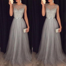 Женское платье макси с высокой талией в стиле пэчворк, с круглым вырезом, длинное платье, Vestidos, женское вечернее платье с блестками, без рукавов, летнее платье для женщин
