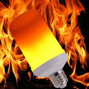 New LED Dynamic Flame Effect Fire Light Bulb E27 B22 E14 LED Corn Bulb Creative Flickering Emulation 5W 12W LED Lamp Light