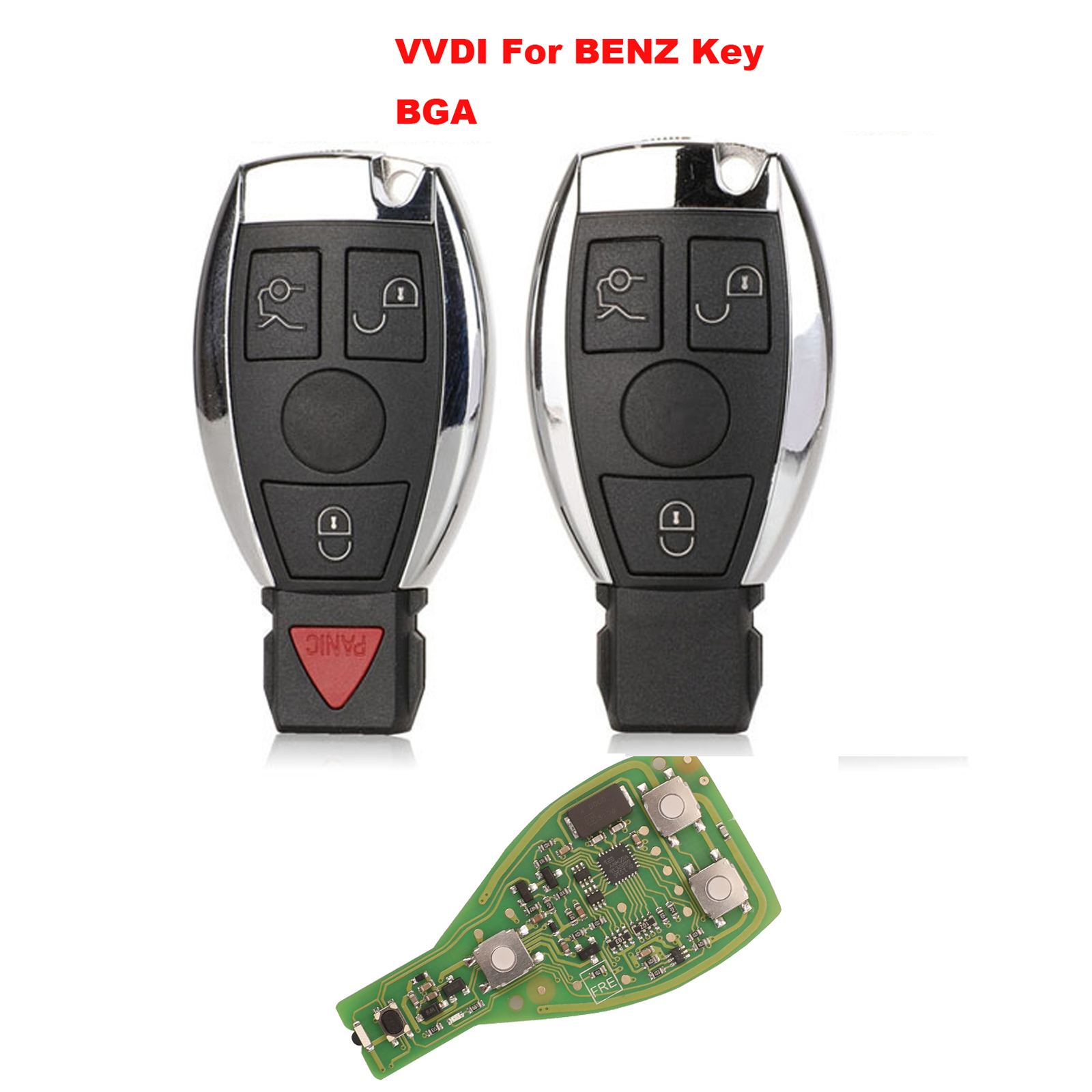 Jingyuqin XHORSE klucz VVDI Pro dla Benz V1.5 PCB klucz zdalny Chip poprawiona wersja inteligentny klucz Shell może wymienić MB BGA Token