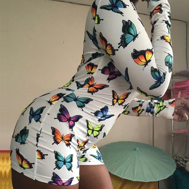 Женский комплект из двух предметов Топ с длинным рукавом и шорты