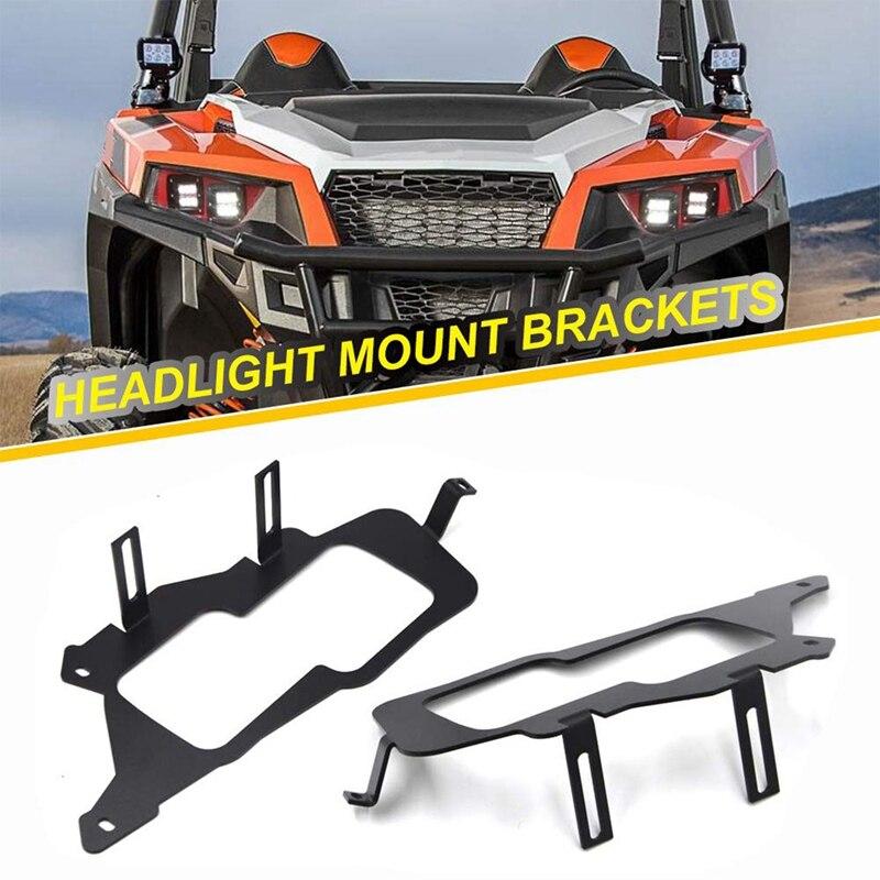Square Pod Light LED Light Cube/Work Headlight Mount Brackets For 2014-2019 Polaris RZR 900 1000 & TURBO RI