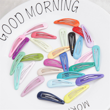 10Pcs Children's Sweet Hair Clips Metal Hairpins Lovely Headwear Hairgrip Solid Color Barrettes For Girls Kids Hair Accessories