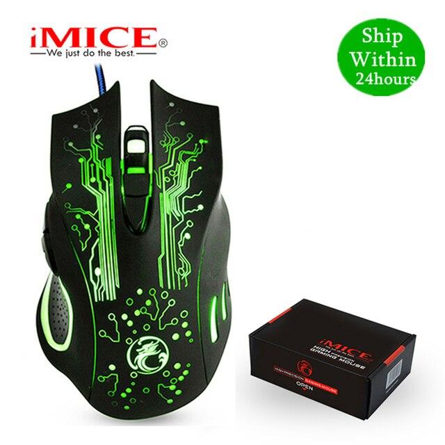 IMICE Gaming Maus Verdrahtete Computer Maus USB Gamer Mäuse 5000 DPI PC Mause 6 Taste Ergonomische Magie Spiel Mäuse X9 für Laptop