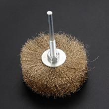 цена на 80mm Steel Wire Brush Wheel Polishing Buffing Grinding Head 6mm Shank For Electric Abrasive Rotary Tool Dremel Accessories 6mm