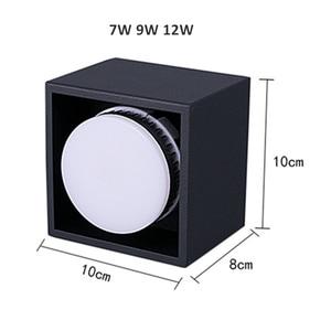 Image 3 - [DBF]Angle ajuster carré LED montage en saillie Downlight avec lampe à LED remplaçable 7W 9W 12W LED Spot pour salon chambre à coucher