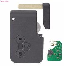 Автомобильные аксессуары Wilongda, 3 кнопочный дистанционный ключ 433 МГц, чип pcf7926 pcf7947 для Renault megane 2 Scenic 2, Автомобильный ключ с картой
