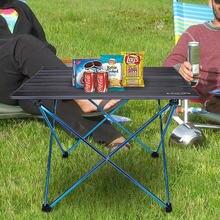 Table pliable Portable Camping mobilier dextérieur ordinateur lit Tables pique nique 6061 alliage daluminium Ultra léger bureau pliant