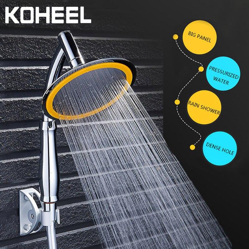 Cabeça de chuveiro de poupança água chuva chuveiro de mão grande 6 Polegada alta pressão do banheiro chuvas chuveiro spa