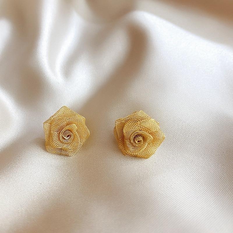 Купить женские винтажные серьги гвоздики mengjiqiao элегантные золотистые