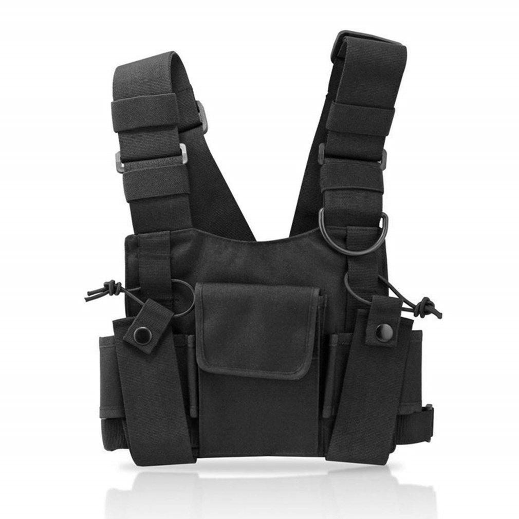Тактический жилет, нейлоновый военный жилет, нагрудная сумка, тактический ремень, рация, радио, поясная сумка для двухстороннего радио