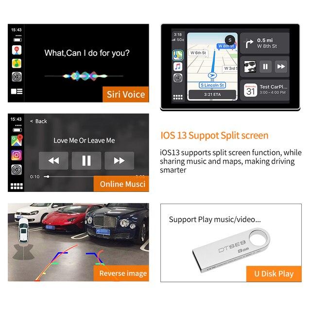 Carlinkit bezprzewodowy Apple Carplay/ Android Auto/ Mirrorlink/sterowanie głosem/dla BMW MiNi/X1/X3/X4/X5/X6 z bezprzewodowym systemem NBT