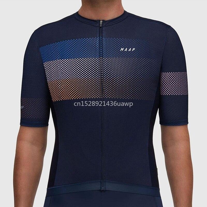 2019 Maap verão homens camisa de ciclismo de manga Curta roupas de bicicleta desgaste ciclo de Movimento M bandeira camisa de equitação Respirável