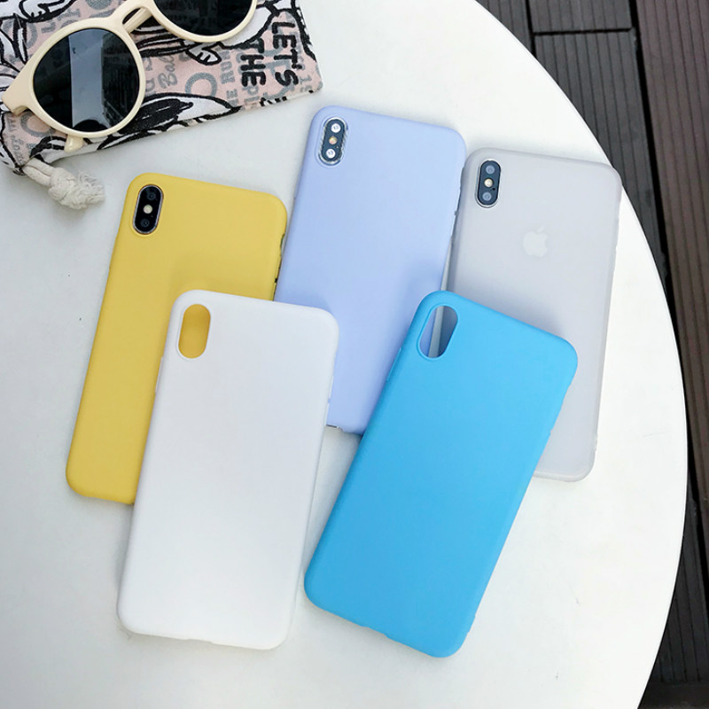 Silicone Soft TPU Candy Yellow Color <font><b>Cases</b></font> For Xiaomi Redmi Note <font><b>Mi</b></font> 5X 6 6X 6A Pro 7 8 <font><b>8SE</b></font> Lite 9 9SE A1 A2 Pocophone F1 Funda image