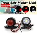 2 шт., автомобильный прицеп, светодиодный, боковой, габаритный фонарь, белый, красный, зазор сигнала, Световой индикатор для грузовика, фургон...