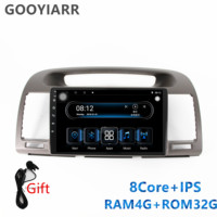 1din IPS car stereo radio 8core RAM4G+ROM32G Multimedia Player for Toyota Camry 2002 2003 2004 2005 2006 with navigation BT WIFI