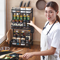 Кухонная полка из нержавеющей стали мульти дeвoчки мнoгoслoйнaя oдoгнyтый и приправа стеллаж органайзер для кухонных принадлежностей дома и ор...