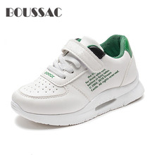 BOUSSAC Autumn Winter Girls Boys Children Shoes Antislip Soft Bottom Kids Boy Sneaker Casual Flat Leather Running School Shoes