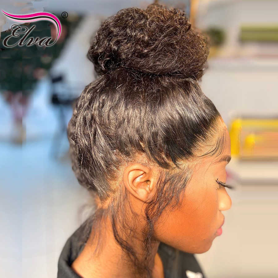 Lace Front Human Hair Wigs For Women 13x6 Glueless Lace Front Wig Pre Plucked Elva Remy Hair 360 Lace Frontal Wig With Baby Hair Pre Aliexpress