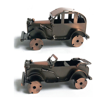 Vintage  Car Model Craft Antique Nostalgia Iron Home Decoration Accessories Boy Girl Birthday Gifts Childhood Toy Gift