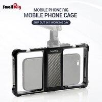 Smallrig padrão universal gaiola do telefone móvel suporte do telefone móvel para vlog vídeo rig 2391|Suporte p/ câmera| |  -