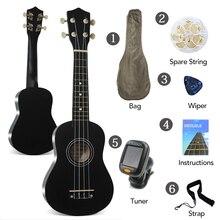 """Ukulele Rosewood אקוסטית ניילון 4 4 strings בס גיטרה 21 """"סופרן יוקולילי למתחילים או בסיסי נגני קונצרט גיטרה"""