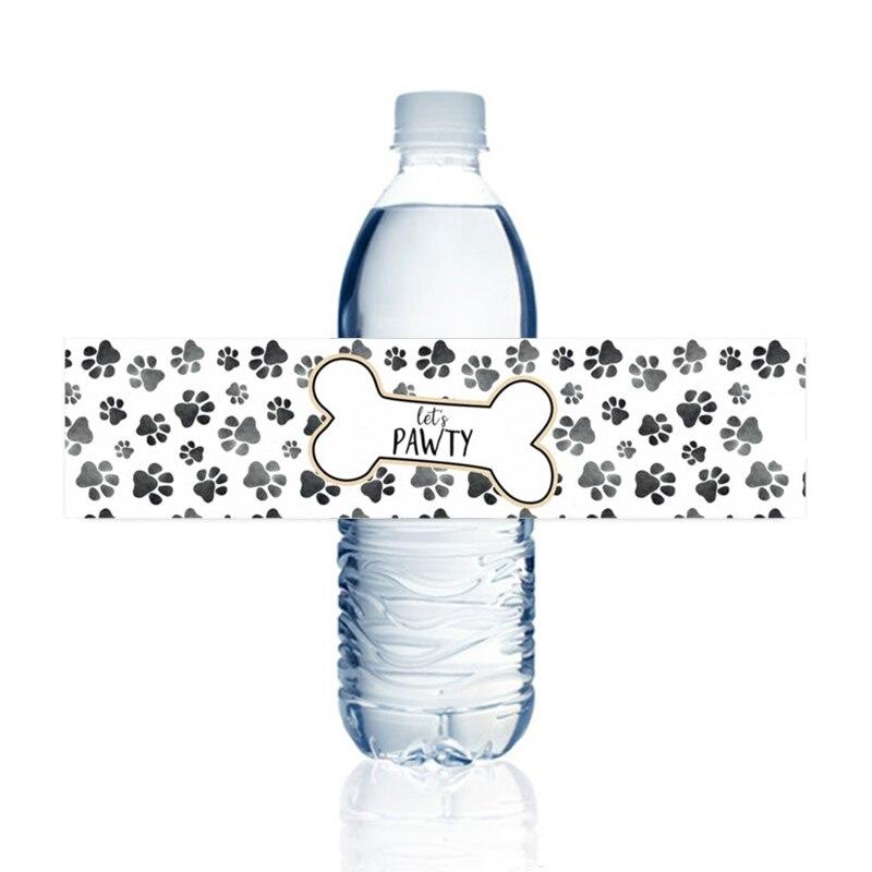 Наклейки для бутылки с водой в виде щенка, 15 стикеров