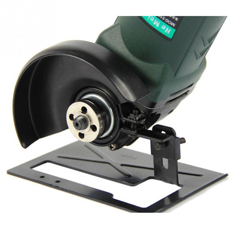 Cutting Machine Base Protection Cover Angle Grinder Stand Adjustable Metal Support Base DIY Woodwoking Tools