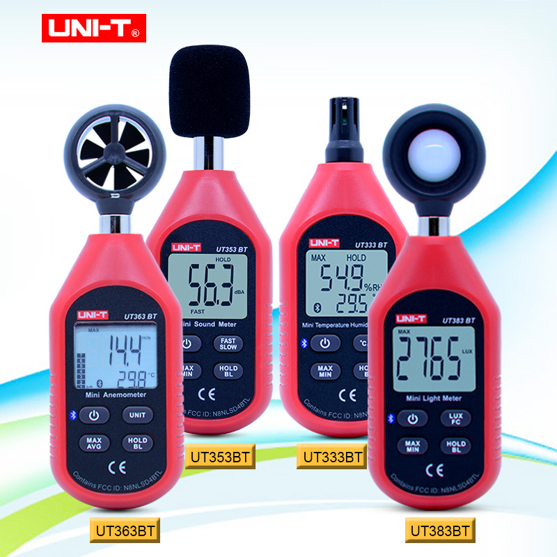 UNI-T UT333BT UT353BT UT363BT UT383BT Digital humidity meter Mini Anemometer light meter LUX Digital sound meter