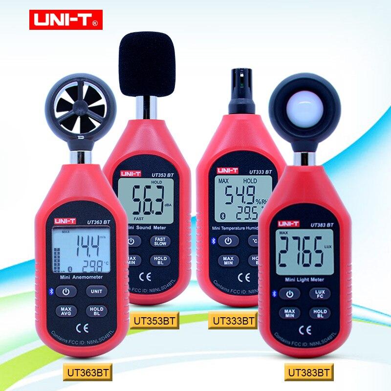 UNI-T UT333BT UT353BT UT363BT UT383BT compteur d'humidité numérique Mini anémomètre compteur de lumière LUX sonomètre numérique