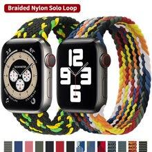 Плетеный нейлоновый ремешок для apple watch band 44 мм 40 38