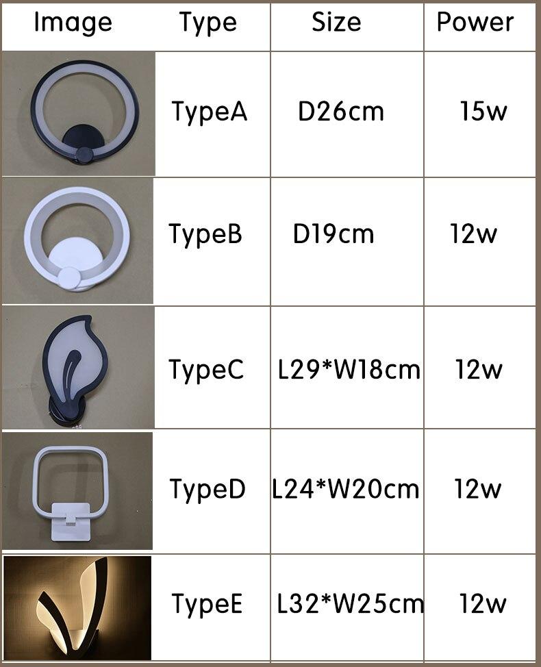Novo design moderno lâmpadas de parede quarto