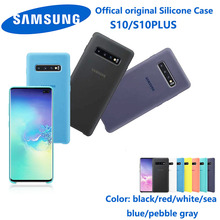Samsung s10 plus phone case original samsung S10 Plus silky silicone soft touch back protection case+dust-proof