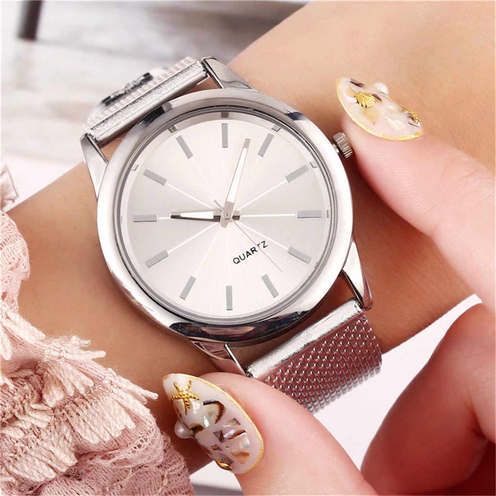 럭셔리 시계 여성 2020 로즈 골드 손목 시계 여성 숙녀 쿼츠 시계 스테인레스 스틸 간단한 여성 시계 relogio feminino